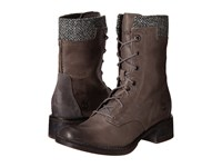 Timberland Whittemore Fabric And Leather Lace Up Dark Grey Woodlands Grey Harris Tweed Wool Women's Boots Brown