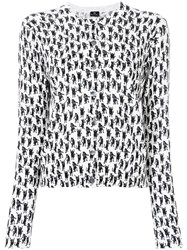 Paul Smith Cat Print Cardigan White