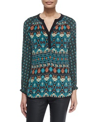 Tolani Jill Long Sleeve Printed Tunic