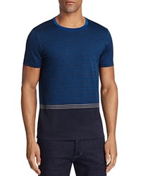 Boss Tessler Color Block Striped Tee Blue
