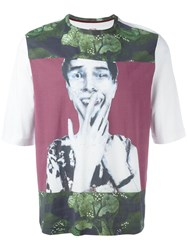 Antonio Marras Glitched Face T Shirt White