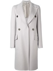 Jil Sander Double Breasted Coat Grey