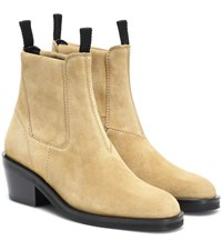 Acne Studios Suede Ankle Boots Beige