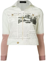 Undercover Newspaper Print Jacket White