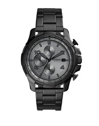 Fossil Dean Round Stainless Steel Bracelet Chronograph Watch Black