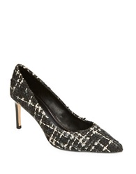 Elie Tahari Destray Tweed Pumps Black White