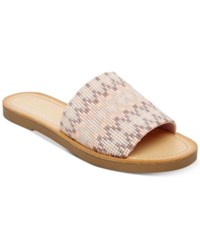 Madden Girl Luluu Embellished Slide Sandals Nude Multi