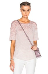 Raquel Allegra Basic Tee In Pink Ombre And Tie Dye Pink Ombre And Tie Dye