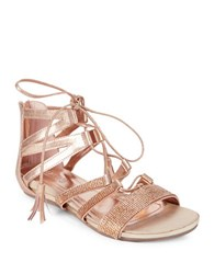 Kenneth Cole Reaction Lost Look2 Lace Up Sandals Light Gold