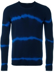 Roberto Collina Tie Dye Jumper Blue