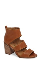 Lucky Brand Women's Kabott Block Heel Sandal Cafe Leather