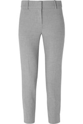 J.Crew Cameron Cropped Cady Tapered Pants Gray