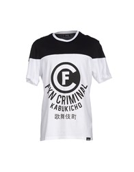 Criminal Topwear T Shirts Men White