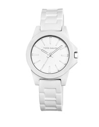 Vince Camuto Ladies White Silicone Stainless Steel Watch