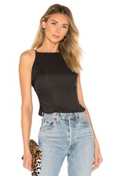 By The Way Hannah Back Tie Top Black