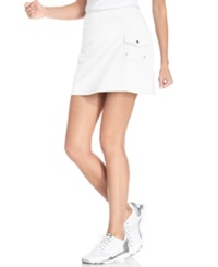 Style And Co. Sport. French Terry Cargo Skort Bright White