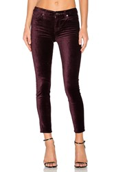 7 For All Mankind The Contour Velvet Ankle Skinny Purple