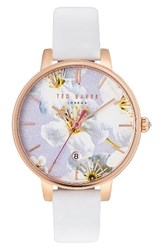 Ted Baker Women's London Kate Round Leather Strap Watch 38Mm