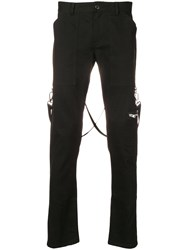 Stampd Low Rise Biker Trousers Black