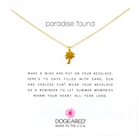 Dogeared Mini Palm Tree Chain Necklace Gold
