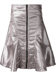 Ktz Metallic Flared Skirt