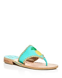 Jack Rogers Pineapple Thong Sandals Blue