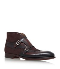 Magnanni Double Monk Boots Male Brown
