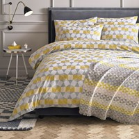 Niki Jones Pentagonal Duvet Cover Multi Grey Yellow