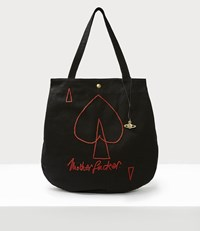 Vivienne Westwood Motherfucker Round Shopper Black