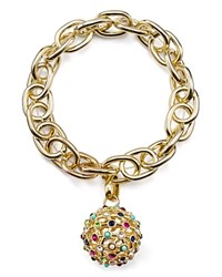 Rj Graziano Chain And Pave Ball Stretch Bracelet Gold Multi