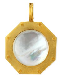 Dina Mackney Mother Of Pearl Nailhead Pendant White