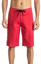 Quiksilver Men's Big And Tall Manic Cargo Board Shorts Quik Red