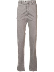 Kiton Relaxed Fit Chinos Grey