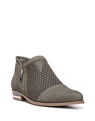 Fergie Ida Perforated Leather Slip On Oxfords Grey