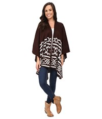 Ariat Mary Cape Dark Chocolate Women's Sweater Brown