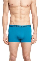 Calvin Klein Men's Id Stretch Cotton Trunks Blue Pulse