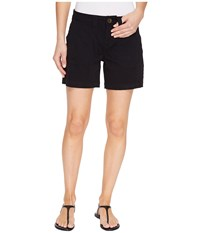 Jag Jeans Somerset Relaxed Fit Shorts In Bay Twill Black Women's Shorts