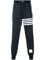 Thom Browne 4 Bar Stripe Lightweight Ripstop Sweatpants Blue