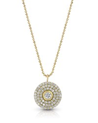 Dominique Cohen 18K Gold Mosaic Diamond Pendant Necklace Medium