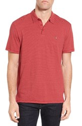 John Varvatos Men's Star Usa Peace Stripe Soft Collar Polo