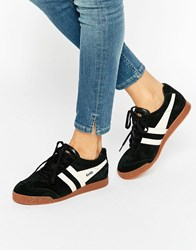 Gola Classic Harrier Trainers In Black And Ecru Black Ecru