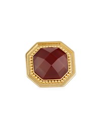 Stephanie Kantis Octagon Carnelian Adjustable Ring Red