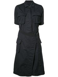 Sacai Flap Pocket Shirt Dress Black