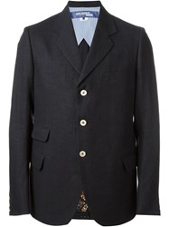 Junya Watanabe Comme Des Gara Ons Man Three Button Blazer Blue