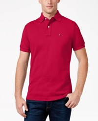 Tommy Hilfiger Men's Classic Fit Ivy Polo Cerise