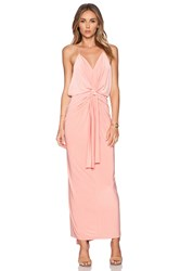 T Bags Losangeles T Bags Domino Tie Front Maxi Dress Blush