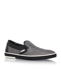 Jimmy Choo Grove Houndstooth Skater Shoes Male Black