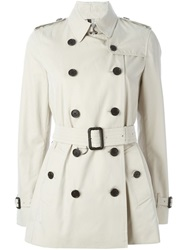 Burberry Short Trench Coat Nude And Neutrals