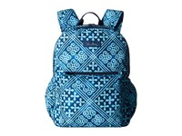 Vera Bradley Lighten Up Grande Laptop Backpack Cuban Tiles Backpack Bags Blue