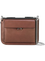 Marni Pocket Crossbody Bag Brown
